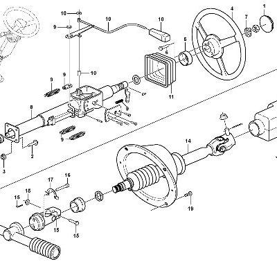 Рулевое управление для сочлененного самосвала VOLVO