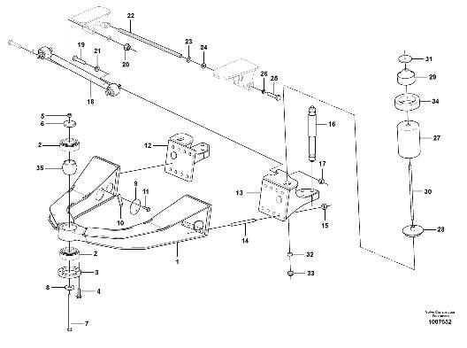 Схема подвески переднего моста