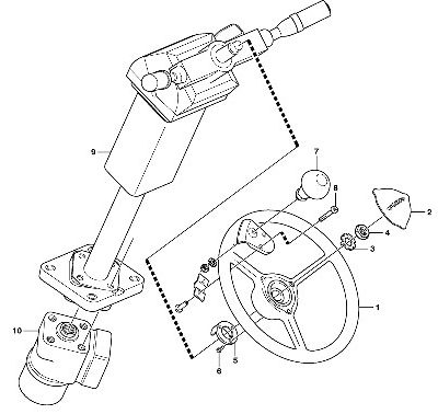 Рулевое управление для фронтального погрузчика VOLVO