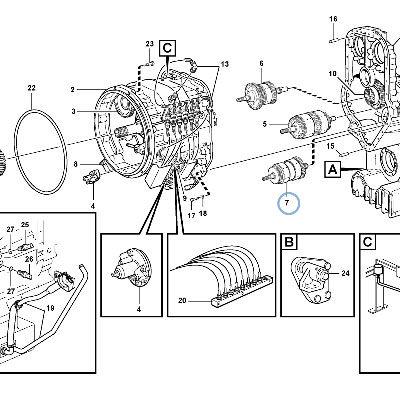 Коробка передач для фронтального погрузчика VOLVO