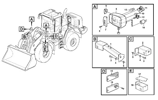 Схема переднего освещения