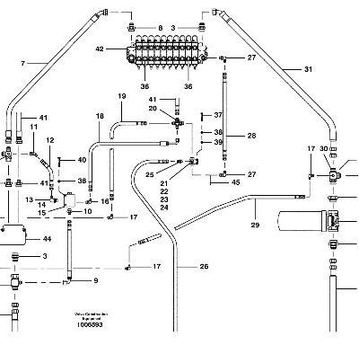 Гидравлическая система для автогрейдера VOLVO
