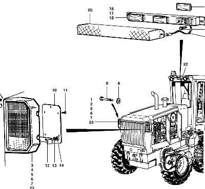Электрическая система для автогрейдера VOLVO