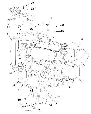 Двигатель для катка VOLVO