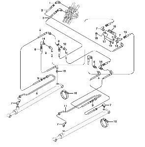 Гидравлическая систем для погрузчика с бортовым поворотом VOLVO