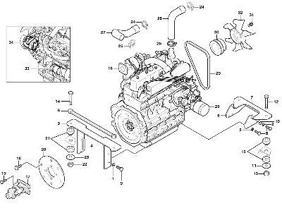 Двигатель для погрузчика с бортовым поворотом VOLVO