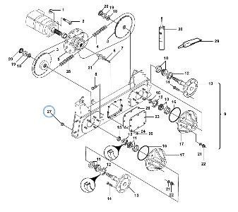 Коробка передач для погрузчика с бортовым поворотом VOLVO