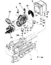 Двигатель для асфальтоукладчика VOLVO