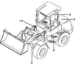 Схема компактного колесного погрузчика