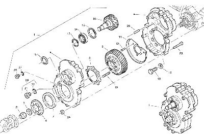Коробка передач для компактного колесного погрузчика VOLVO
