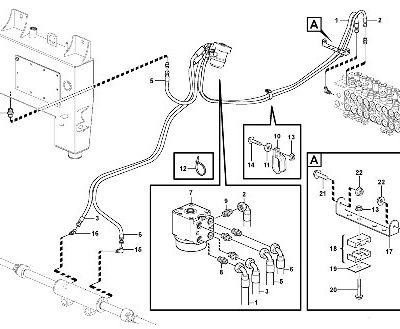 Рулевое управление для экскаватора-погрузчика VOLVO